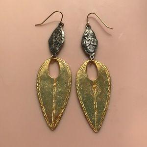 Anthropologie Gold Earrings